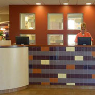 Veterinary Clinic Reception Desk