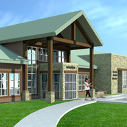 Exterior Animal Shelter Rendering